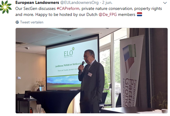 Thierry de l'Escaille, secretaris-generaal European Landowners Organization